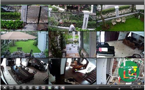 Lắp đặt camera có dây cho biệt thự Táo Đỏ