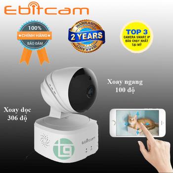 Camera ip ebitcam e2 2.0 xoay 360 độ