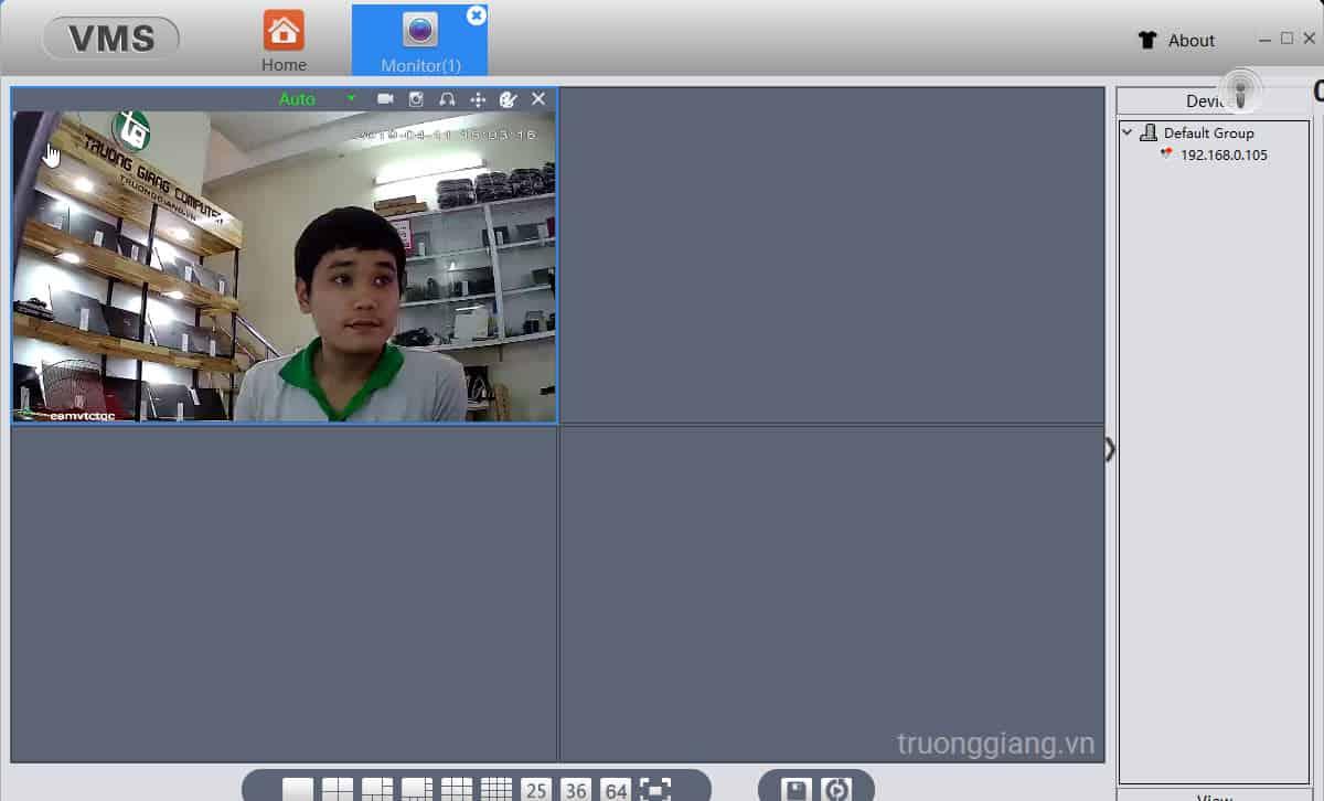 Xem lại hình ảnh sau khi cài đặt camera wiif Vitacam trên máy tính