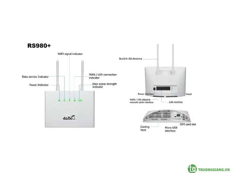 Bộ Phát Wifi 4G CPE RS980+