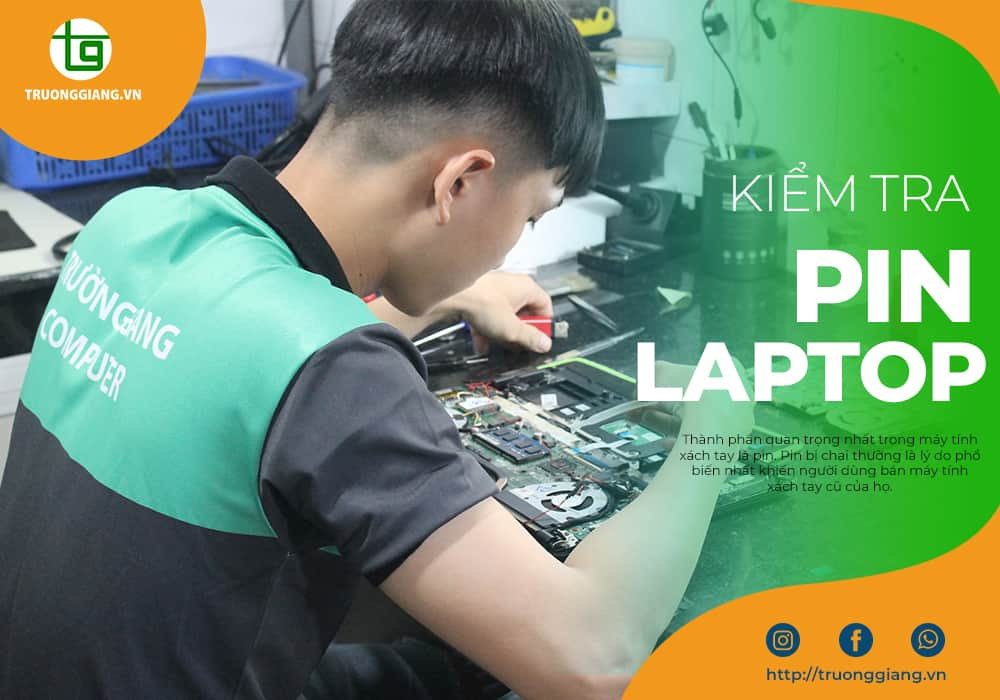 Kiểm tra pin laptop cũ Quận Hải Châu