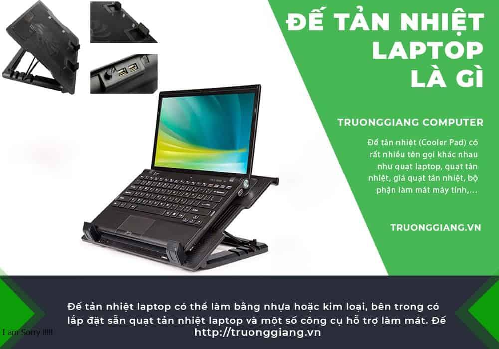 Đế tản nhiệt laptop là gì?